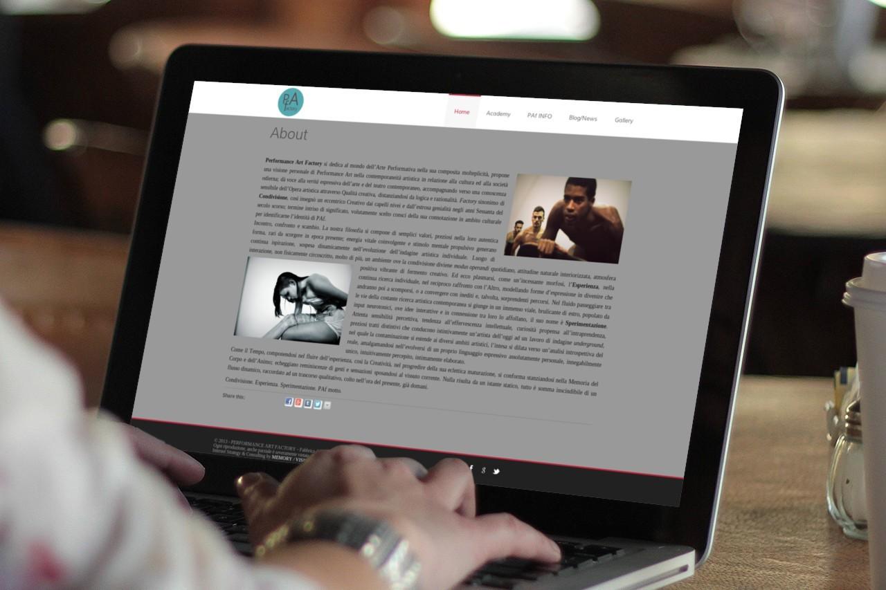 PAf - WEB SITE -  PC DESKTOP