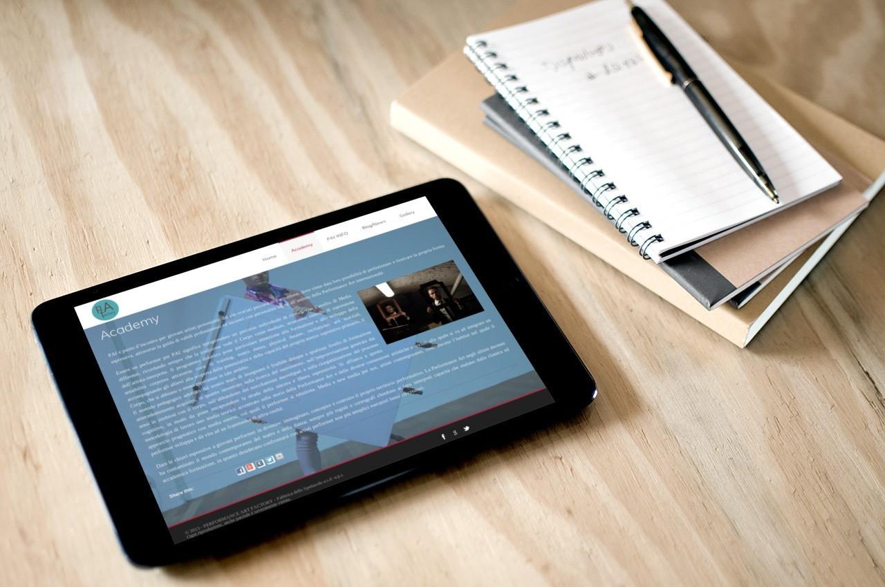 PAf - WEB SITE - MOBILE TABLET