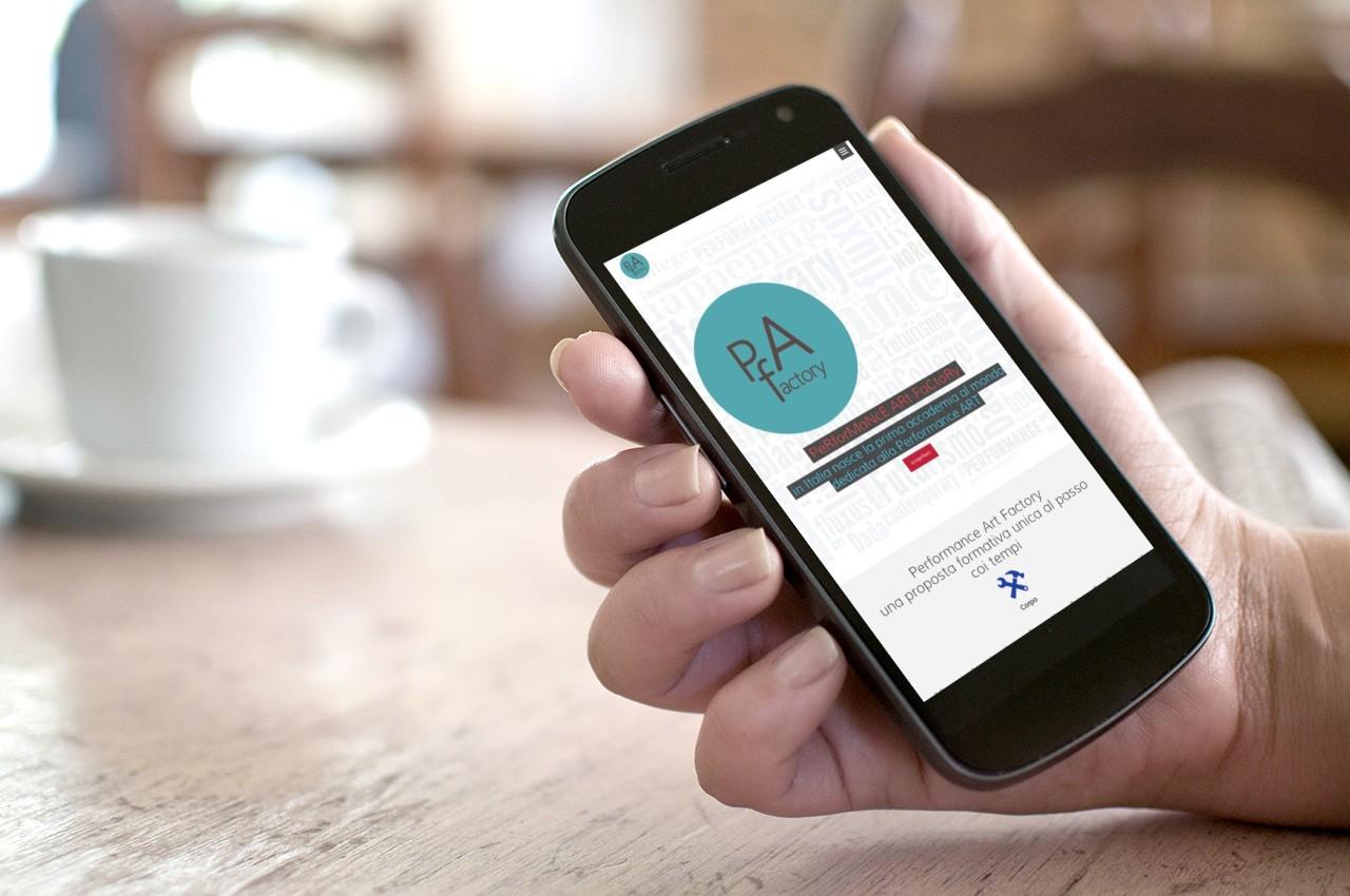 PAf - WEB SITE - MOBILE SMARTPHONE