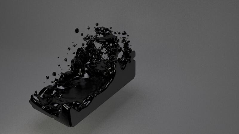 Black Fluid with Blender - Memory Slash Vision Studios