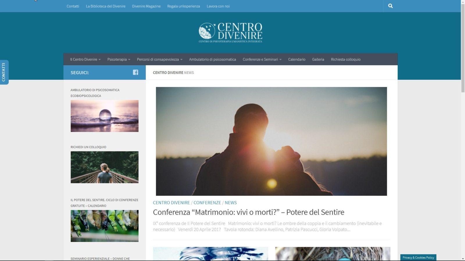 SITO INTERNET CENTRO DIVENIRE - HOMPAGE