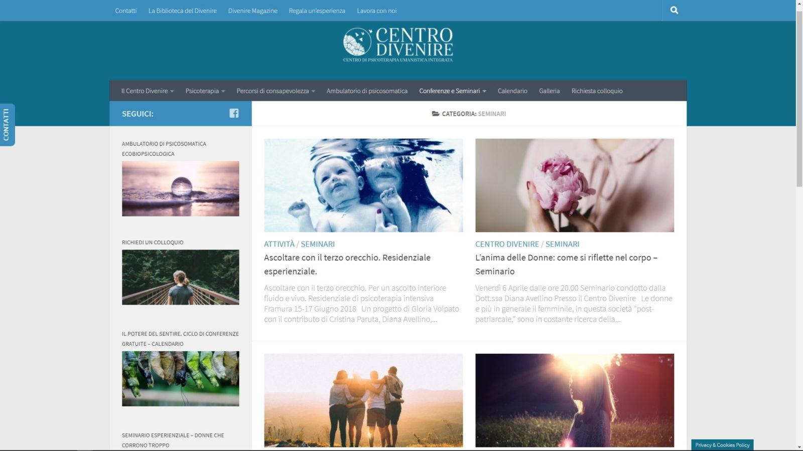 SITO INTERNET CENTRO DIVENIRE - NEWS