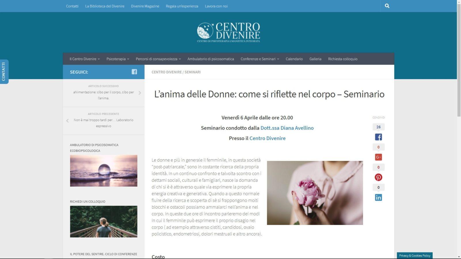 SITO INTERNET CENTRO DIVENIRE - POST