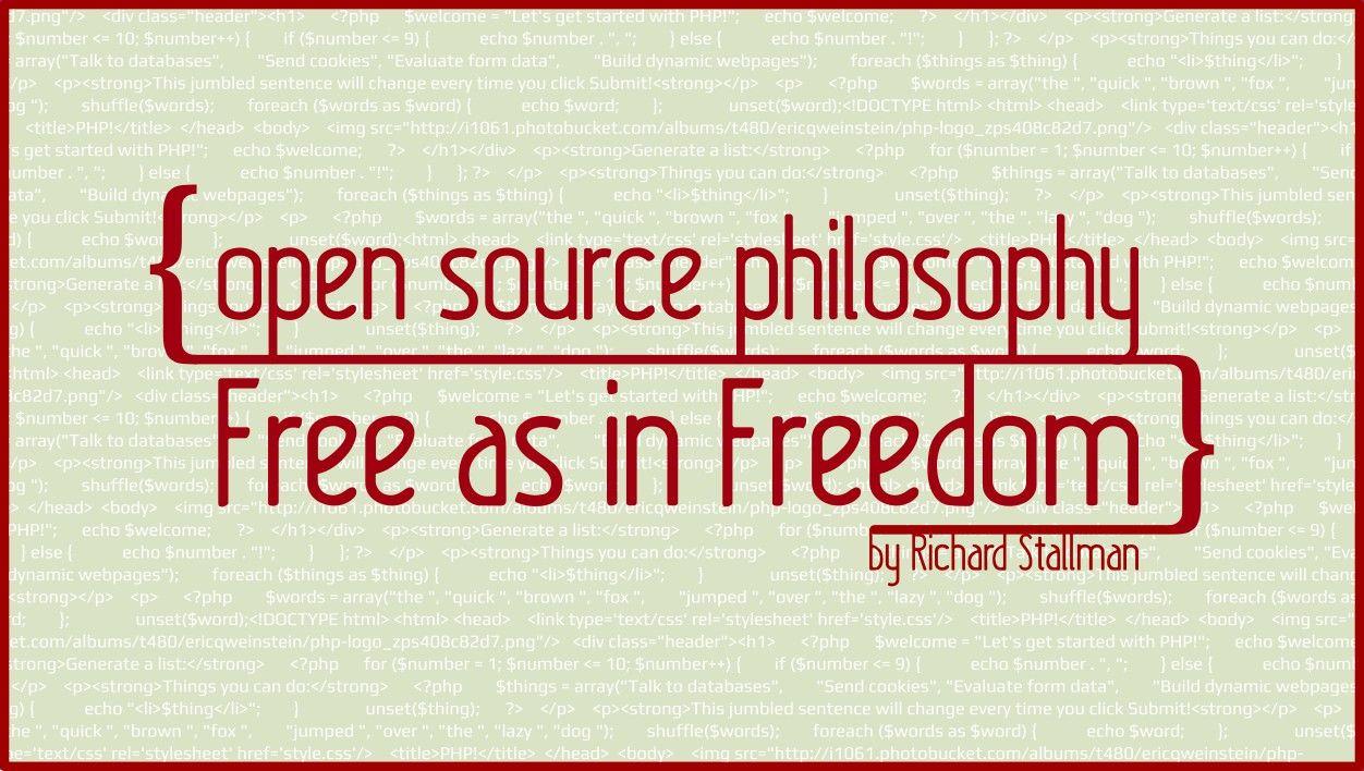 Open Source Philosophy