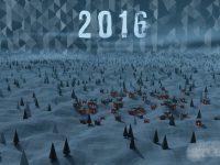 Happy New Year - Paesaggio low poly innevato in 3D realizzato con Blender - Memory Slash Vision studios
