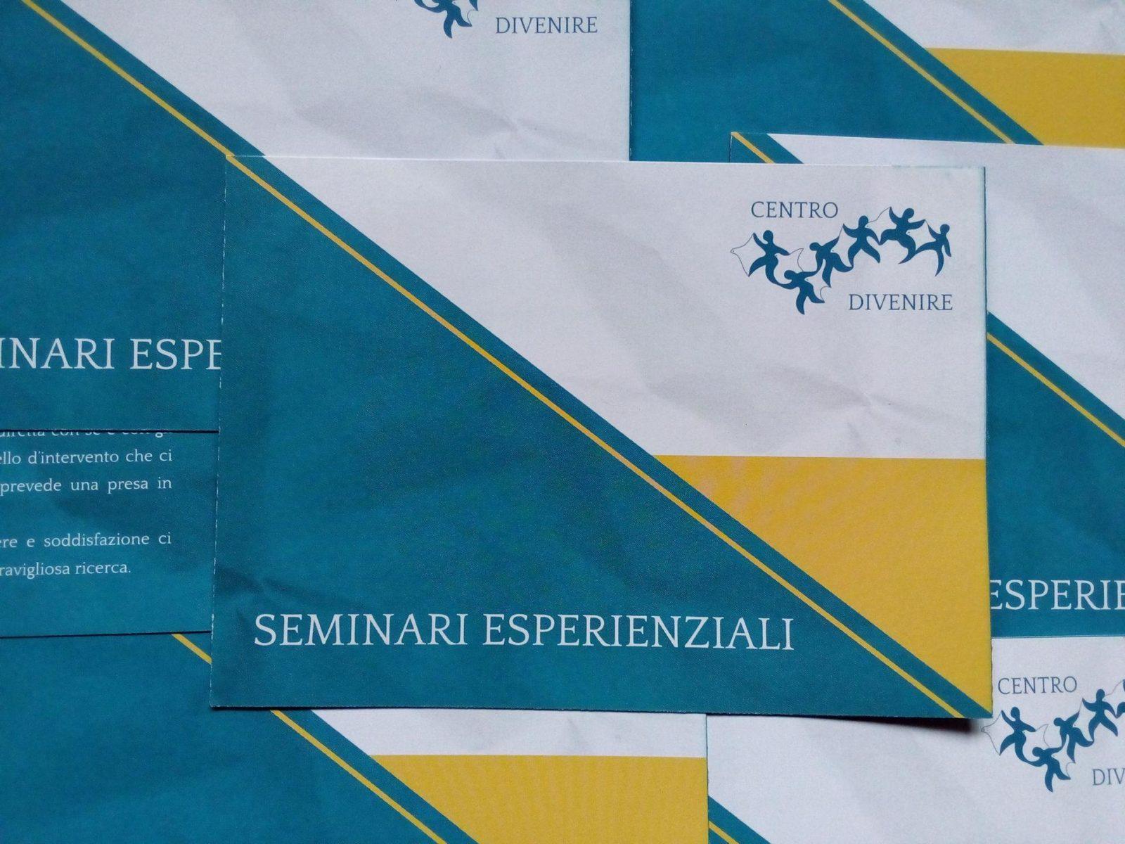 FLYER - SEMINARI ESPERIENZIALI - CENTRO DIVENIRE - COPERTINA