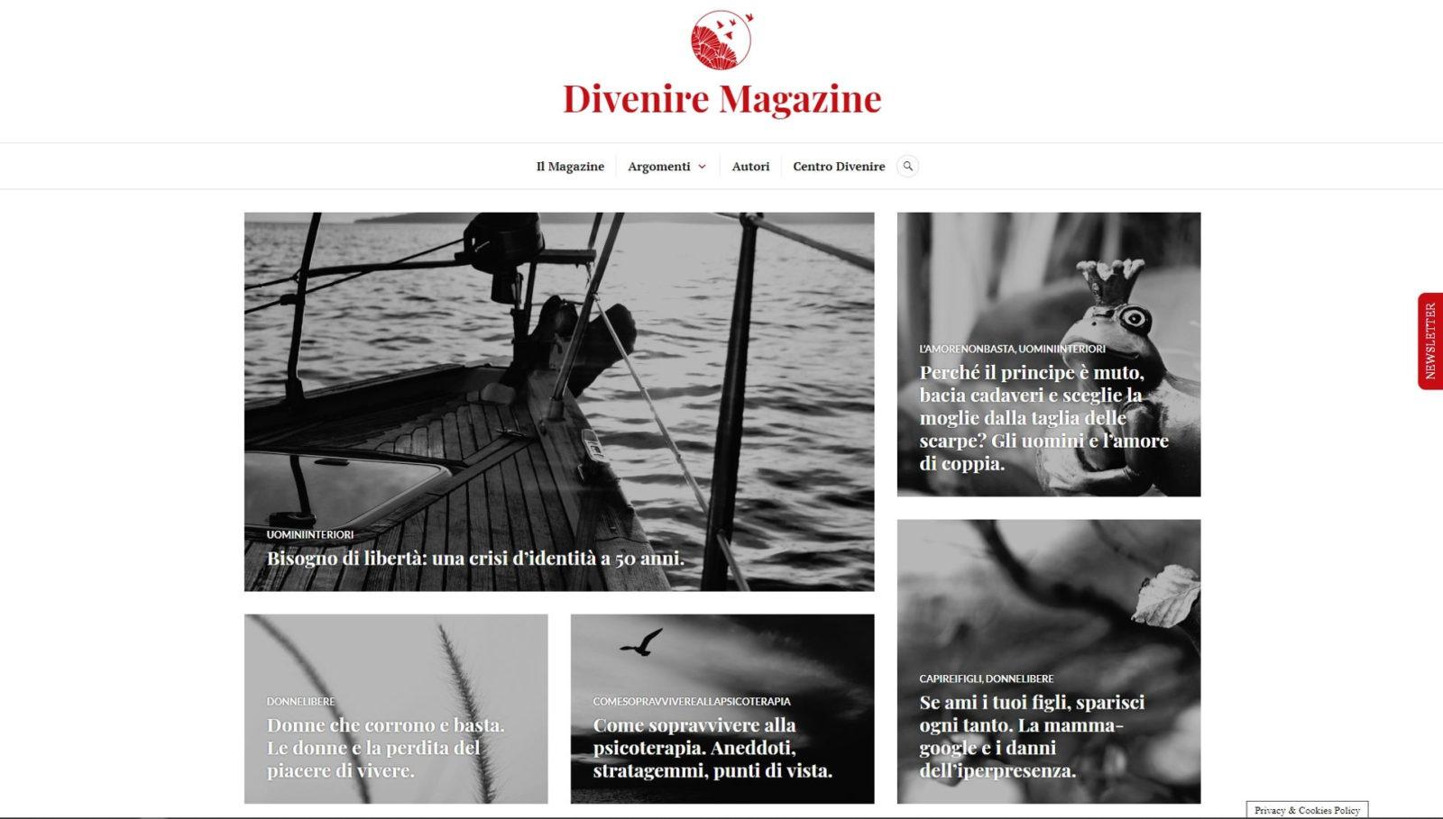 DIVENIRE MAGAZINE – WEBSITE