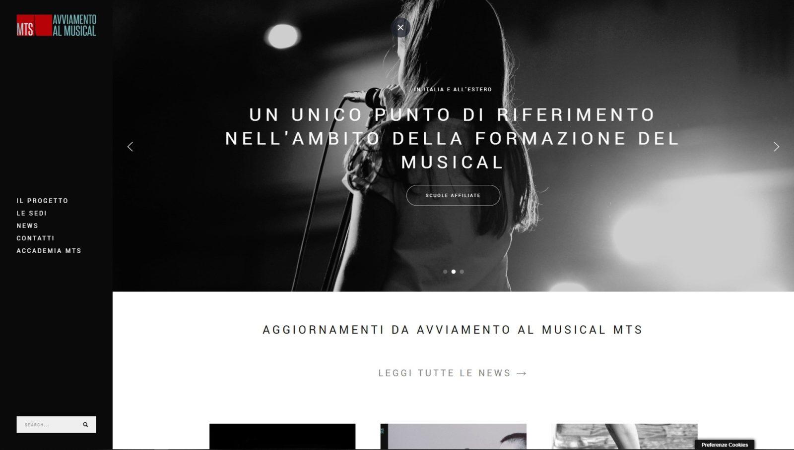 MTS AVVIAMENTO AL MUSICAL – WEBSITE