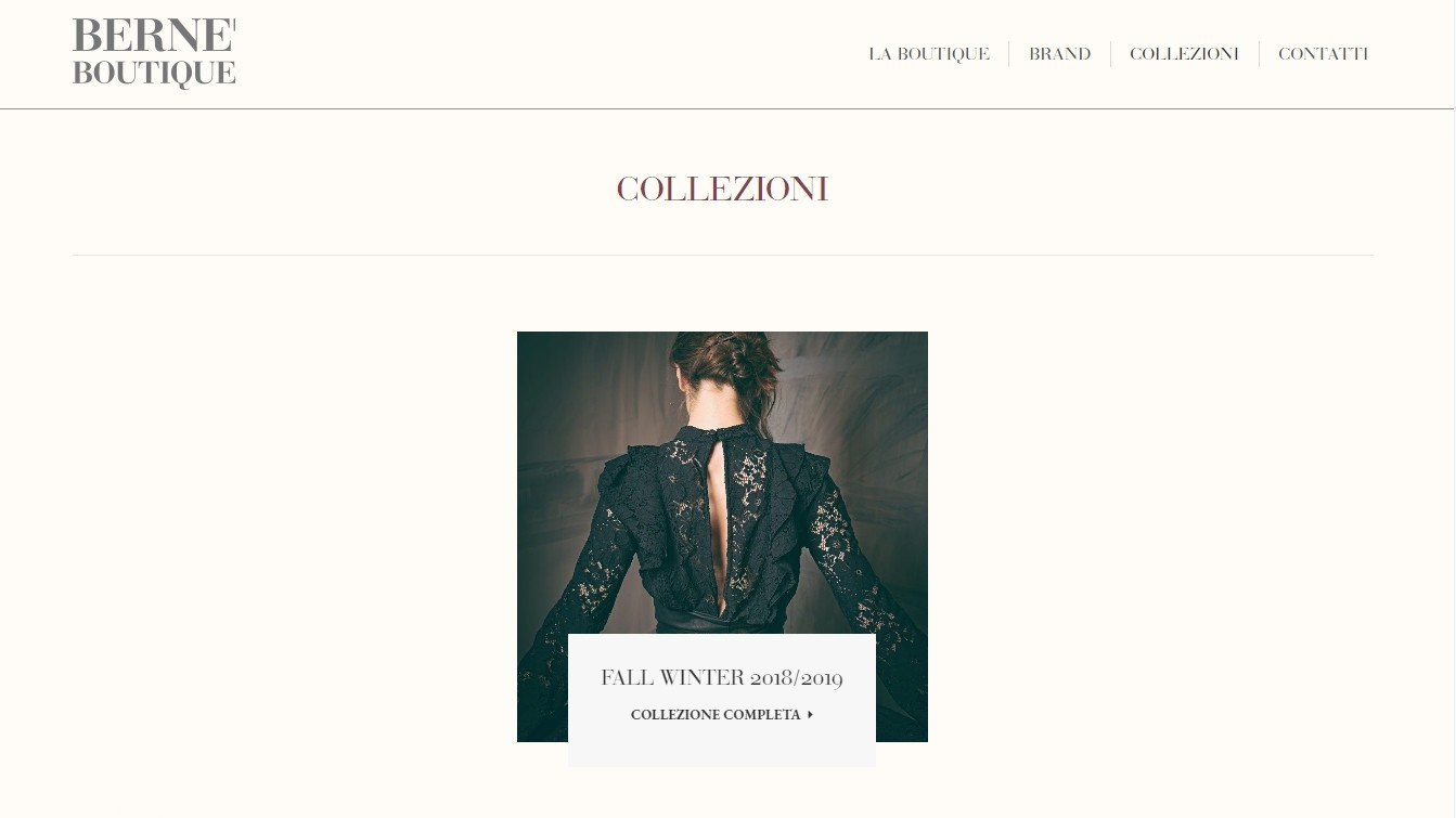 BERNE' BOUTIQUE – WEB DESIGN