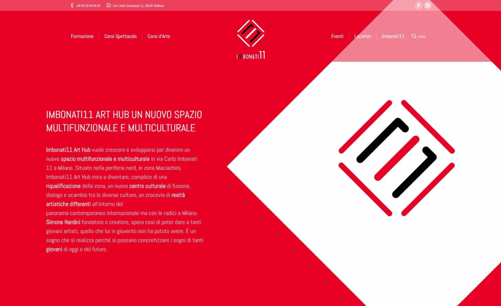 IMBONATI11 ART HUB – WEBSITE